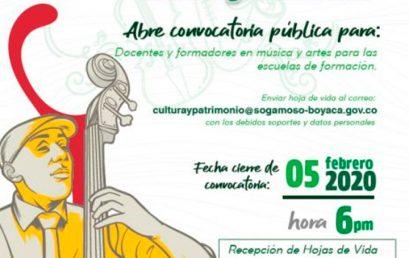 Convocatoria para docentes y formadores en música y artes   Alcaldía de Sogamoso
