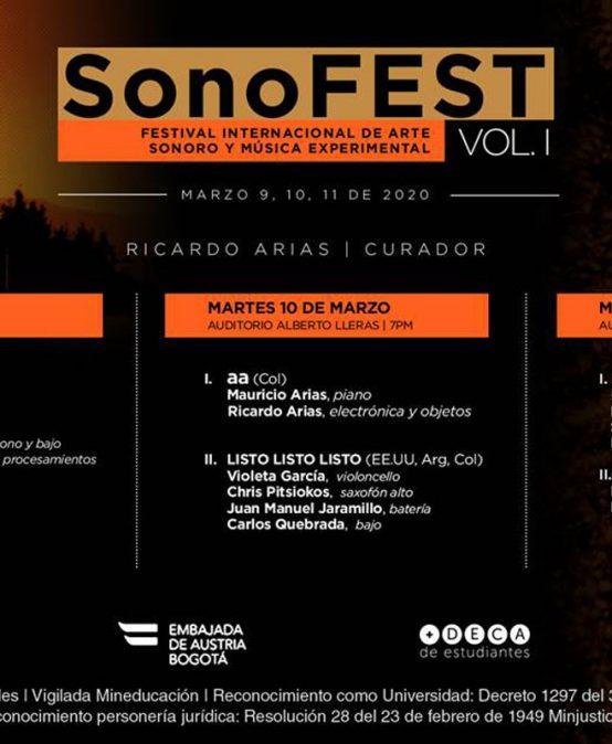 SonoFEST: Los Infames + OM (Col) & Canto largo (Col)