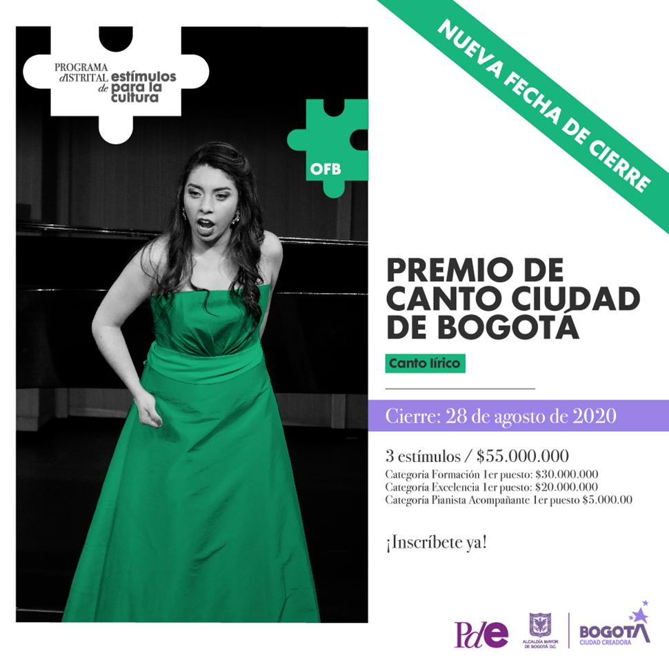 """Premio de Canto """"Ciudad de Bogotá"""""""