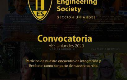 Charla: Convocatoria – AES Uniandes 2020-2