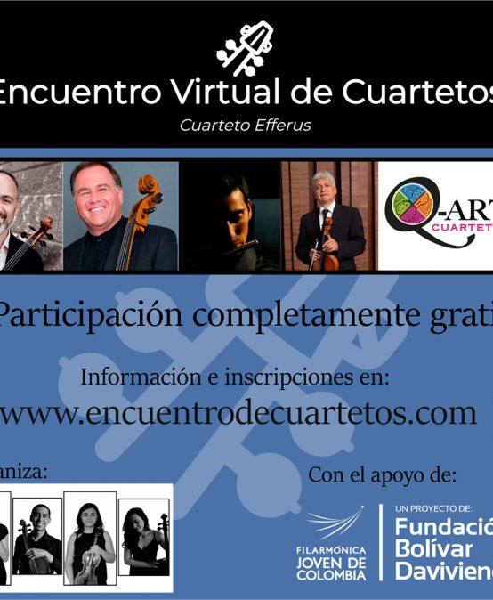 Encuentro virtual de cuartetos – Cuarteto Efferus
