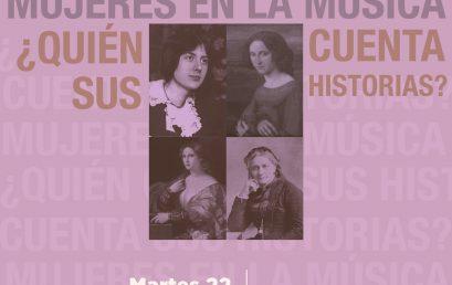 Conferencia Mujeres en la música ¿quién cuenta sus historias? por Juana Monsalve