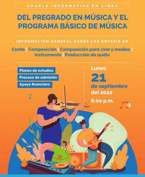 Charla informativa en línea:  Estudiar el Pregrado en Música y el Programa básico de Música en Uniandes