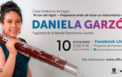 Clase didáctica de fagot a cargo de Daniela Garzón
