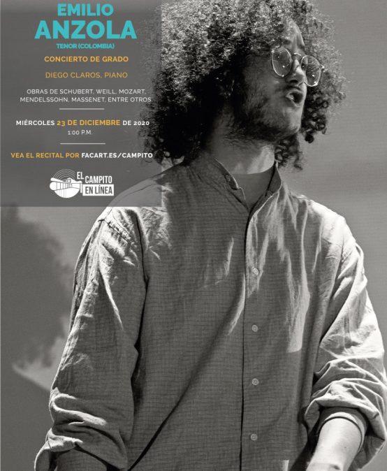 Recital de grado | Emilio Anzola, canto