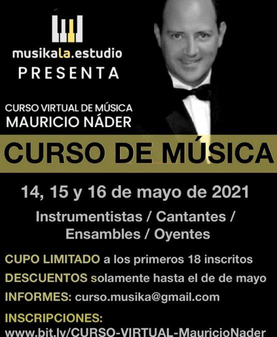 Curso en línea de piano dirigido por el maestro Mauricio Náder