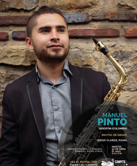 Recital de grado | Manuel Pinto, saxofón