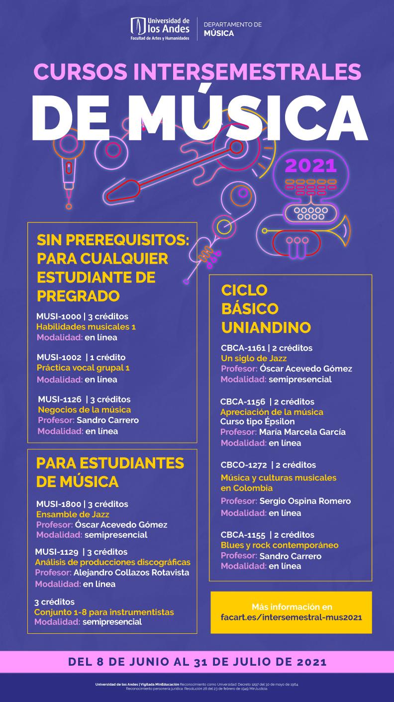 Cursos interemestrales de Música 2021