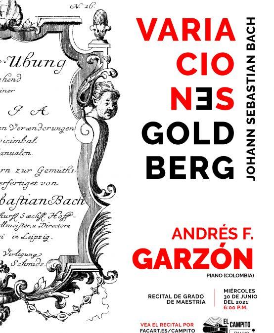 Recital de grado de maestría: Andrés Garzón, piano