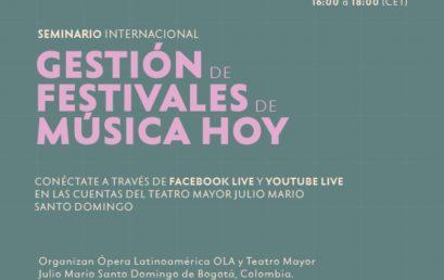 Seminario internacional: Gestión de festivales de música hoy