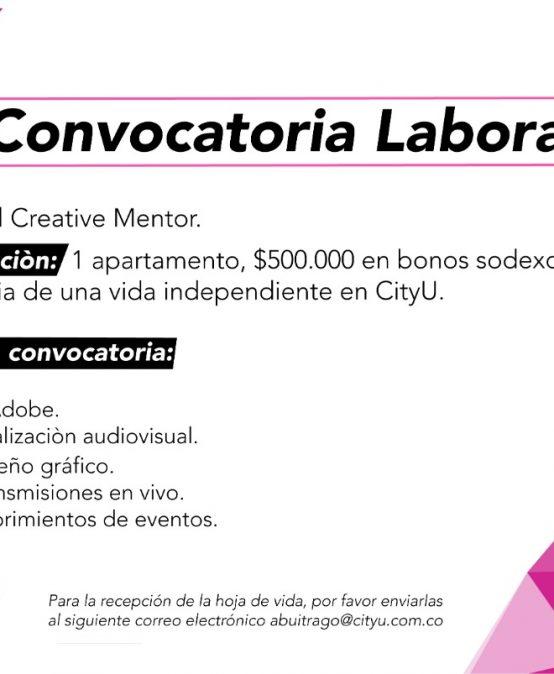 Convocatoria laboral: Digital creative mentor en CityU