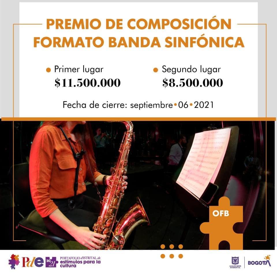Premio de composición formato banda sinfónica  – OFB