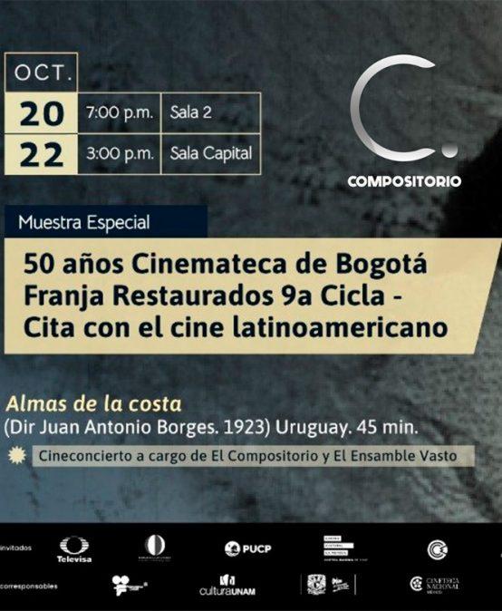 """El Compositorio y VASTO presentan: Cine-concierto """"Almas de la costa"""""""